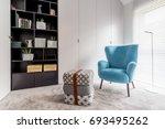 modern interior with cozy... | Shutterstock . vector #693495262