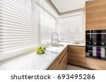 Modern bright kitchen interior...