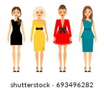 beautiful women in different... | Shutterstock . vector #693496282