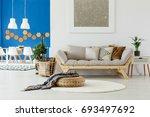natural design in contemporary... | Shutterstock . vector #693497692