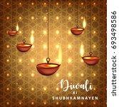 happy diwali  vector... | Shutterstock .eps vector #693498586