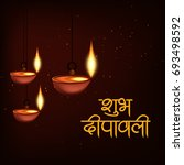happy diwali wallpaper design... | Shutterstock .eps vector #693498592