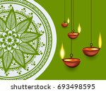 happy diwali wallpaper design... | Shutterstock .eps vector #693498595