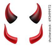 Devils Horns Vector. Realistic...