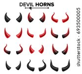 devil horns set vector. good... | Shutterstock .eps vector #693500005