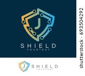electronic shield initial... | Shutterstock .eps vector #693504292