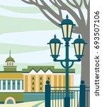 city landscape with public... | Shutterstock .eps vector #693507106