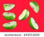 Isolated Fresh Green Apple...