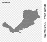 high quality map of buryatia is ... | Shutterstock .eps vector #693513508