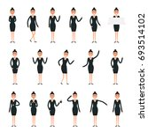 female  character creation set... | Shutterstock .eps vector #693514102
