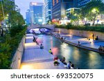 seoul  south korea   august 7 ... | Shutterstock . vector #693520075