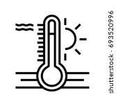 thermometer outline icon | Shutterstock .eps vector #693520996