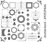 vintage set of vector... | Shutterstock .eps vector #693529666