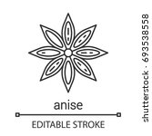 Anise Linear Icon. Thin Line...