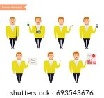 ready to use character set.... | Shutterstock .eps vector #693543676