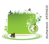 green earth background with... | Shutterstock .eps vector #69354610