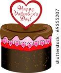 Raster version of Valentine love sweets. - stock photo
