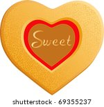 Raster version of Valentine love sweets. - stock photo