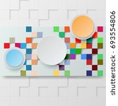 abstract background squares.... | Shutterstock .eps vector #693554806