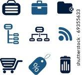 internet   shopping signs.... | Shutterstock .eps vector #69355633