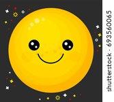 flat line emoji icon. emoticon... | Shutterstock .eps vector #693560065