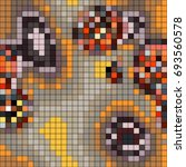 abstract mosaic pattern formed... | Shutterstock .eps vector #693560578