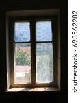 Small photo of Window in usual russian house
