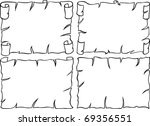 old paper frames | Shutterstock .eps vector #69356551