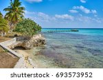 crystal clear water in bay... | Shutterstock . vector #693573952