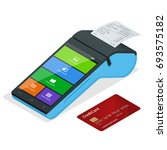 vector payment machine and...   Shutterstock .eps vector #693575182