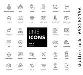 line icons set. delivery pack.... | Shutterstock .eps vector #693582196