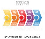 business infographic timeline... | Shutterstock .eps vector #693583516