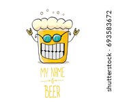vector cartoon funky beer glass ... | Shutterstock .eps vector #693583672