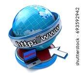 globe internet searching...   Shutterstock . vector #693592942