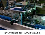 making bottles and printing on... | Shutterstock . vector #693598156
