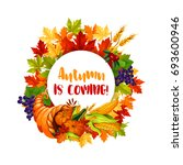 thanksgiving day poster of... | Shutterstock .eps vector #693600946