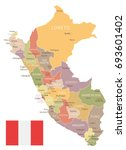 peru vintage map and flag  ... | Shutterstock .eps vector #693601402