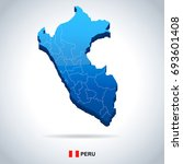 peru map and flag   vector... | Shutterstock .eps vector #693601408