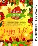autumn season banner template...   Shutterstock .eps vector #693601846