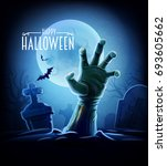 Stock vector halloween zombie hand 693605662