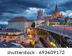 city of lausanne. image of... | Shutterstock . vector #693609172
