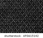 black brick wall texture... | Shutterstock . vector #693615142