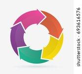 vector circle arrows for... | Shutterstock .eps vector #693616576