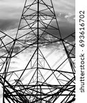 electrical tower for abstract... | Shutterstock . vector #693616702