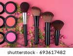 set of make up and cosmetic... | Shutterstock . vector #693617482