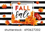 autumn sale flyer template with ... | Shutterstock .eps vector #693627202