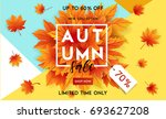 autumn sale flyer template with ... | Shutterstock .eps vector #693627208