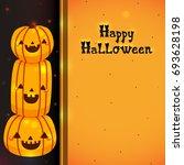 halloween banner with pumpkins  ... | Shutterstock .eps vector #693628198