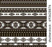 black and white tribal vector... | Shutterstock .eps vector #693628876
