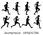 running male and female ... | Shutterstock . vector #693631786